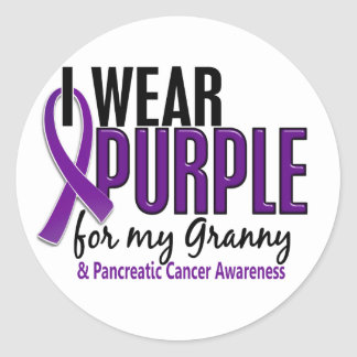 I Wear Purple For My Granny 10 Pancreatic Cancer Classic Round Sticker
