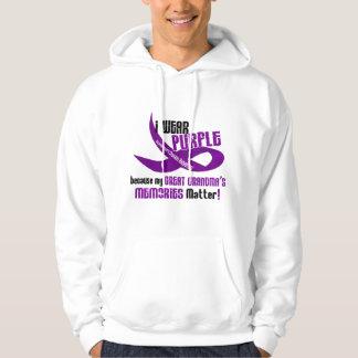 I Wear Purple For My Great Grandma's Memories 33 Sweatshirt