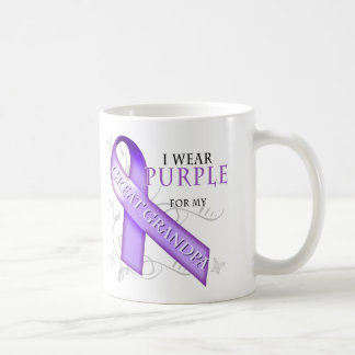 I Wear Purple for my Great Grandpa Coffee Mug