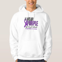 I Wear Purple For My Husband 10 Epilepsy Hoodie