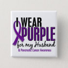 I Wear Purple For My Husband 10 Pancreatic Cancer Button