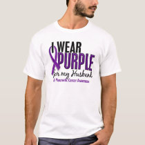 I Wear Purple For My Husband 10 Pancreatic Cancer T-Shirt