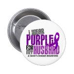 I Wear Purple For My Husband 6 Crohn's Disease 2 Inch Round Button