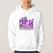 I Wear Purple For My Husband 6 Crohn's Disease Hoodie