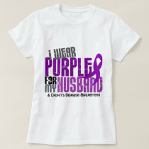I Wear Purple For My Husband 6 Crohn's Disease T-Shirt