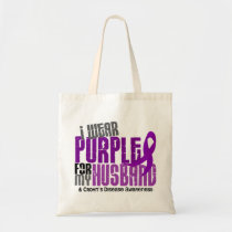 I Wear Purple For My Husband 6 Crohn's Disease Tote Bag