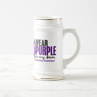 I Wear Purple For My Mom 10 Epilepsy Mug