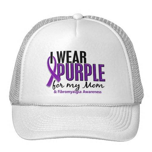 I Wear Purple For My Mom 10 Fibromyalgia Trucker Hat