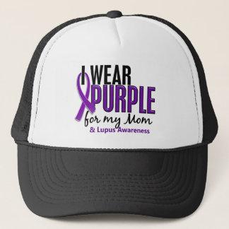I Wear Purple For My Mom 10 Lupus Trucker Hat