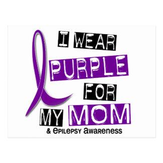 I Wear Purple For My Mom 37 Epilepsy Postcard