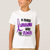 I Wear Purple For My Mom 37 Epilepsy T-Shirt