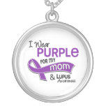 I Wear Purple For My Mom 42 Lupus Custom Necklace