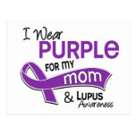 I Wear Purple For My Mom 42 Lupus Postcards