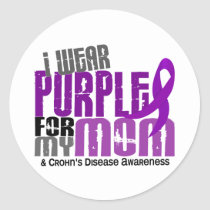 I Wear Purple For My Mom 6 Crohn's Disease Classic Round Sticker