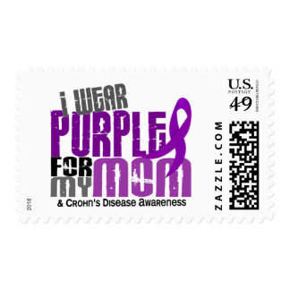 I Wear Purple For My Mom 6 Crohn's Disease Stamp