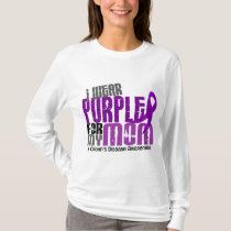 I Wear Purple For My Mom 6 Crohn's Disease T-Shirt