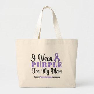 I Wear Purple For My Mom Jumbo Tote Bag