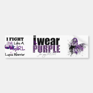 I Wear Purple For My Mom Bumper Sticker