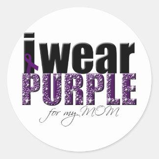 I Wear Purple For My Mom Classic Round Sticker