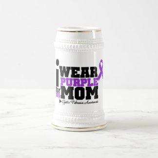 I Wear Purple For My Mom Cystic Fibrosis Coffee Mugs