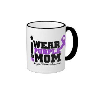 I Wear Purple For My Mom Cystic Fibrosis Mugs