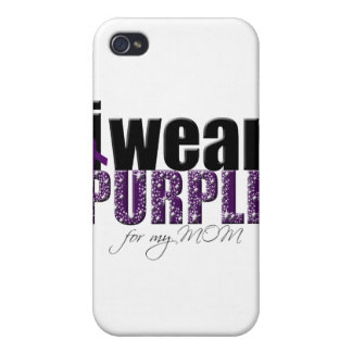 I Wear Purple For My Mom iPhone 4 Covers
