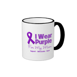 I Wear Purple For My Mom Coffee Mug