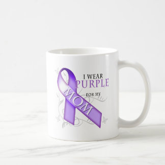 I Wear Purple for my Mom Coffee Mugs