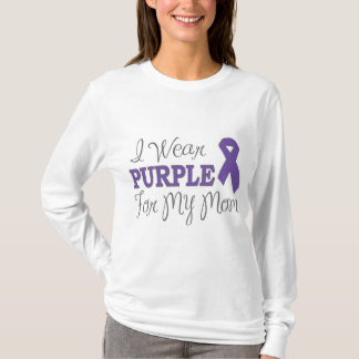 I Wear Purple For My Mom (Purple Ribbon) T-Shirt