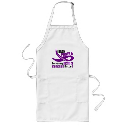I Wear Purple For My Mom's Memories 33 Aprons