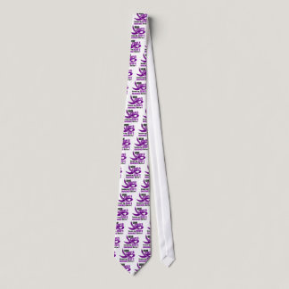 I Wear Purple For My Mom's Memories 33 Neck Tie