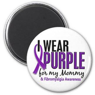 I Wear Purple For My Mommy 10 Fibromyalgia Fridge Magnet