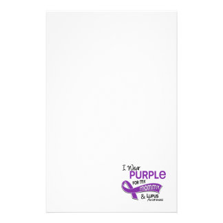 I Wear Purple For My Mommy 42 Lupus Stationery