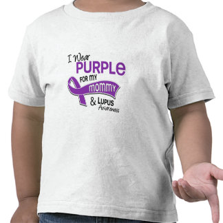 I Wear Purple For My Mommy 42 Lupus T Shirts