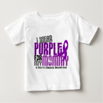 I Wear Purple For My Mommy 6 Crohn's Disease Baby T-Shirt