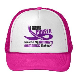 I Wear Purple For My Mommy's Memories 33 Trucker Hat