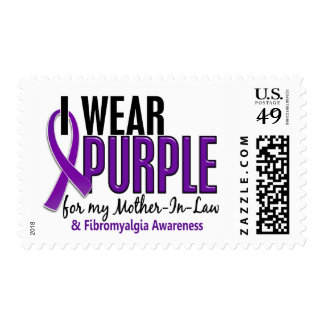 I Wear Purple For My Mother-In-Law 10 Fibromyalgia Postage
