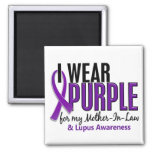 I Wear Purple For My Mother-In-Law 10 Lupus Magnets