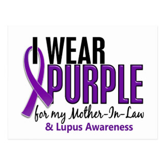 I Wear Purple For My Mother-In-Law 10 Lupus Postcard