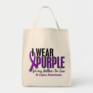 I Wear Purple For My Mother-In-Law 10 Lupus Tote Bag