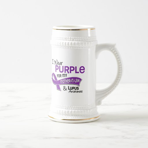 I Wear Purple For My Mother-In-Law 42 Lupus Coffee Mug