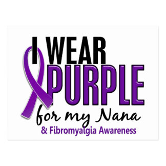 I Wear Purple For My Nana 10 Fibromyalgia Postcard