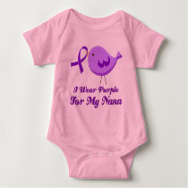 I Wear Purple For My Nana Baby Bodysuit