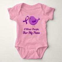 I Wear Purple For My Nana Baby Bodysuit