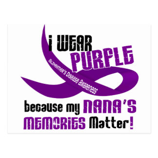 I Wear Purple For My Nana's Memories 33 Postcard
