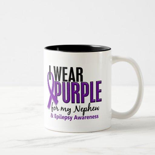 I Wear Purple For My Nephew 10 Epilepsy Coffee Mug