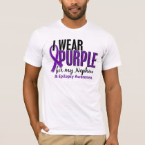 I Wear Purple For My Nephew 10 Epilepsy T-Shirt