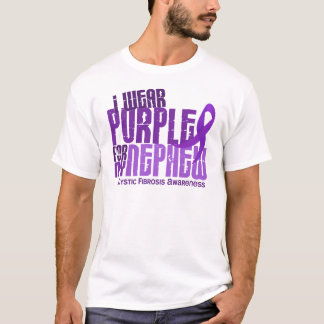 I Wear Purple For My Nephew 6.4 Cystic Fibrosis T-Shirt