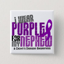 I Wear Purple For My Nephew 6 Crohn's Disease Pinback Button