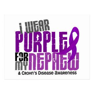 I Wear Purple For My Nephew 6 Crohn's Disease Post Cards